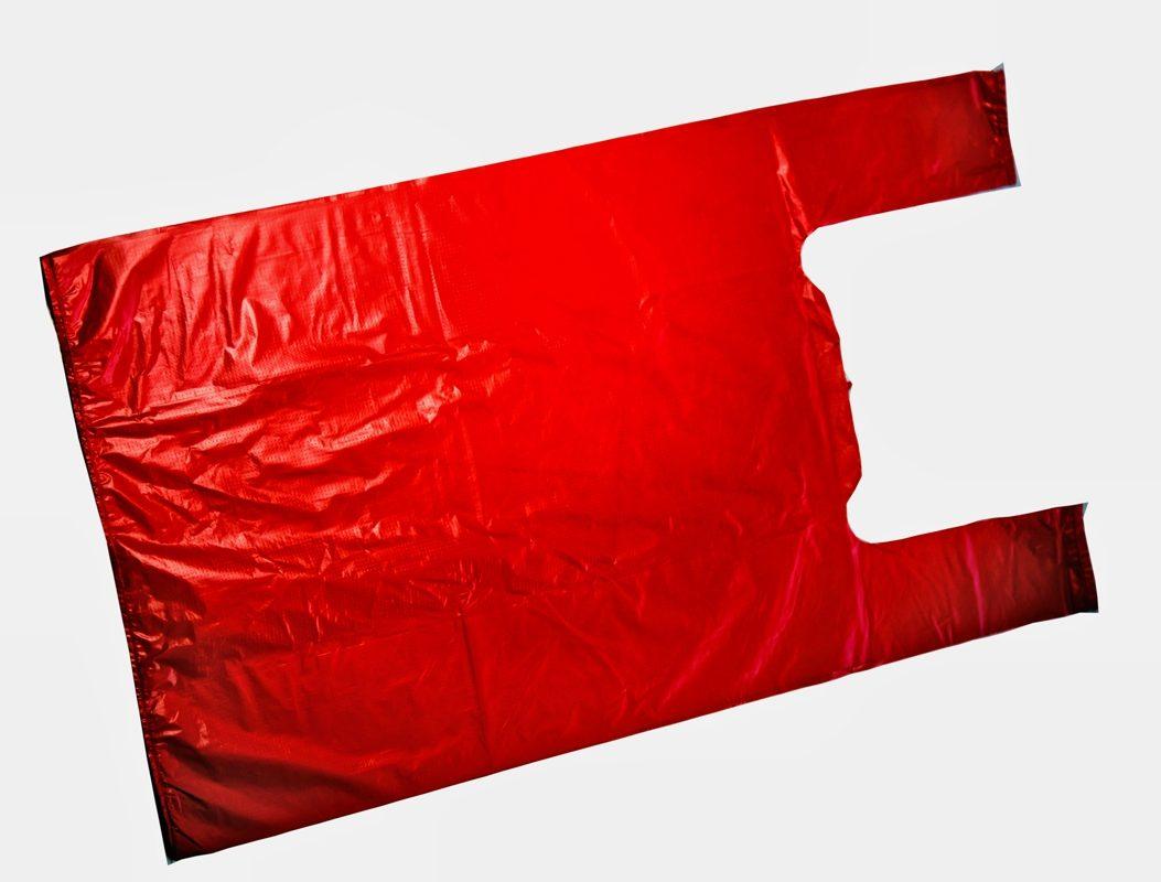 Пакеты майка красного цвета