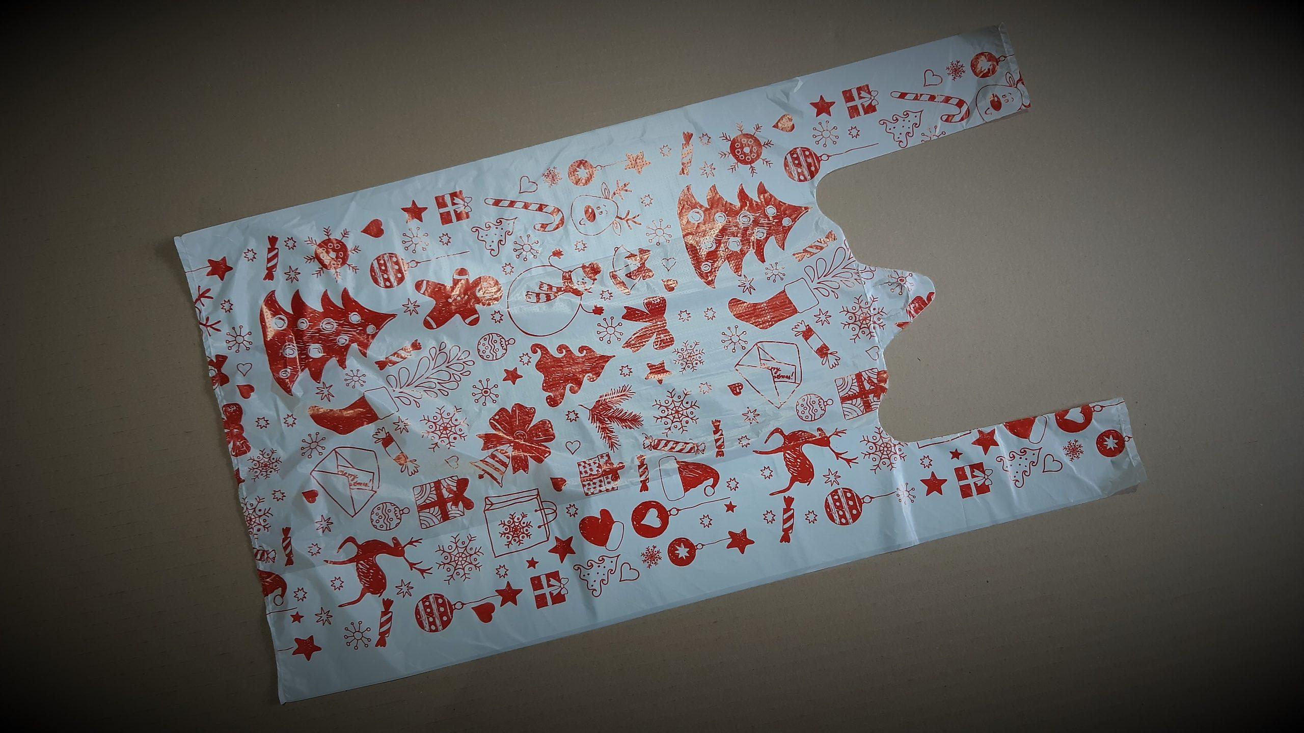 Пакет майка «Новый год» 0,020*300*540мм.