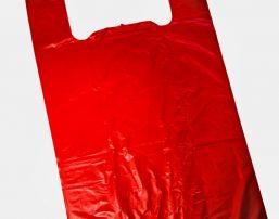 Красный пакет майка с ручками. купить оптом у производителя