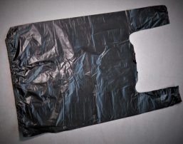 Полиэтиленовый черный пакет майка. Заказать оптом у производителя